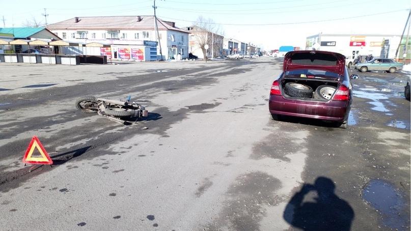 Несовершеннолетняя пассажирка мотоцикла пострадала в Зауралье