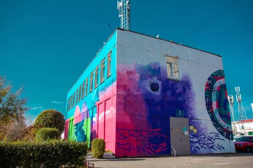 Уличные художники расписали несколько объектов в Кургане